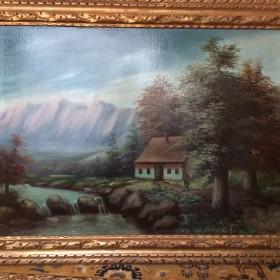 Tableau 19 après restauration<span>Tableau après devernissage et retouches picturales</span>